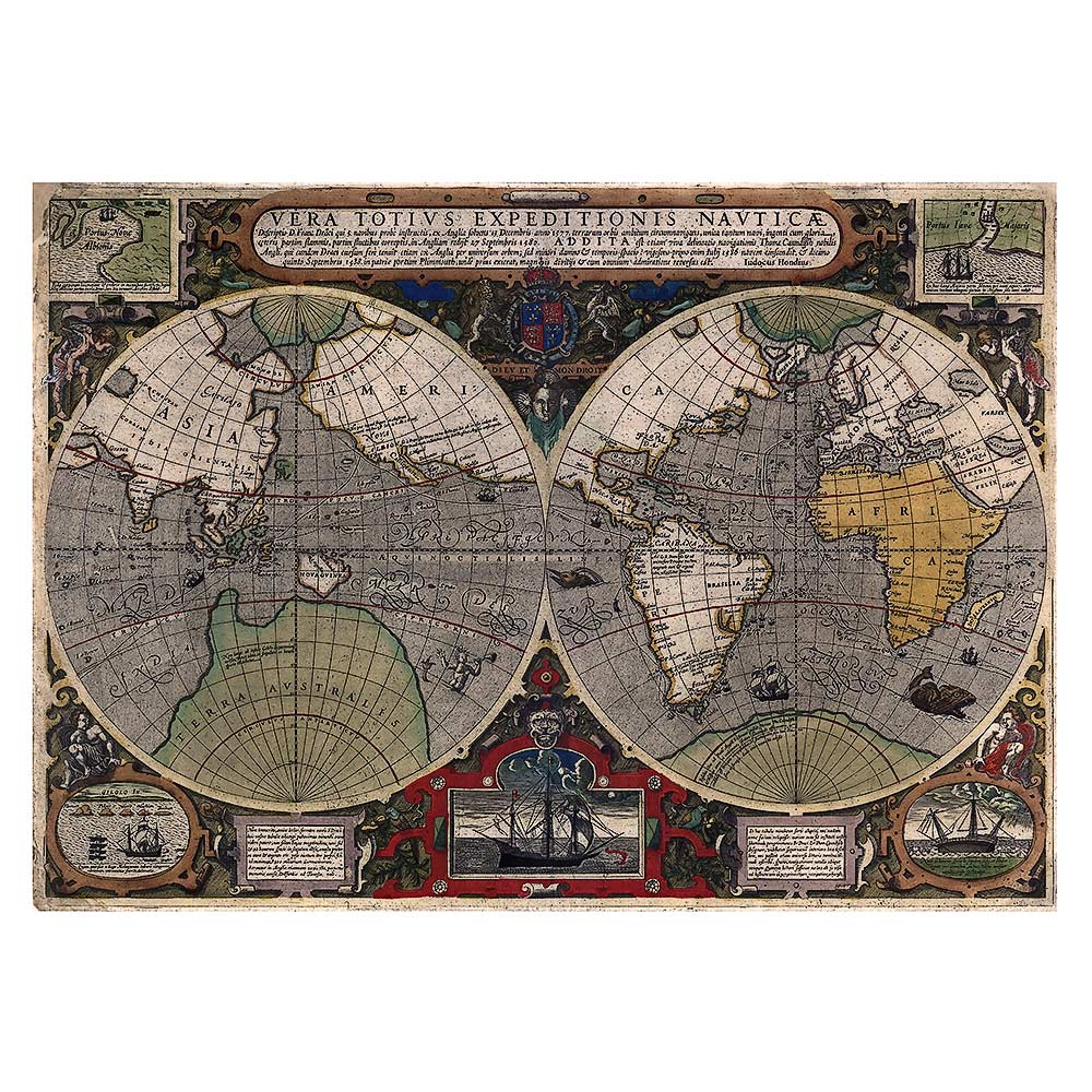 Jodocus Hondius – Map of the World (1595)