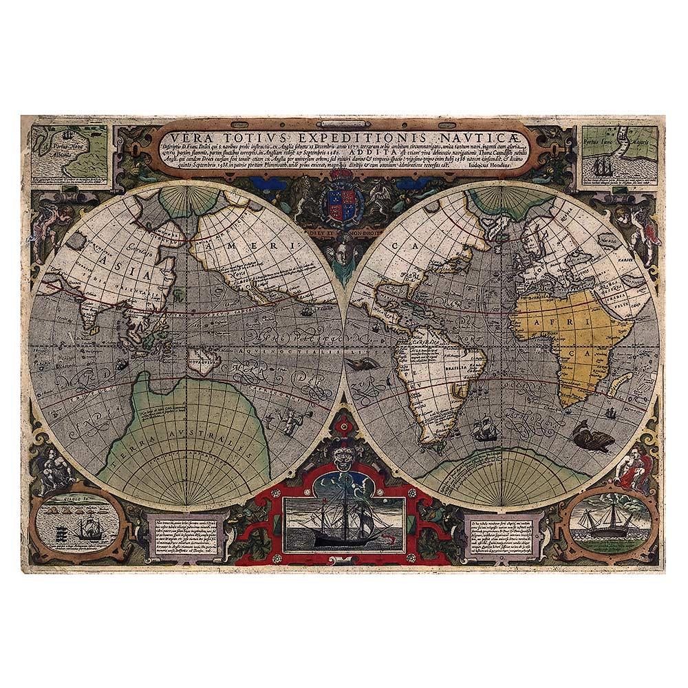 Jodocus Hondius – Map of the World (1595)