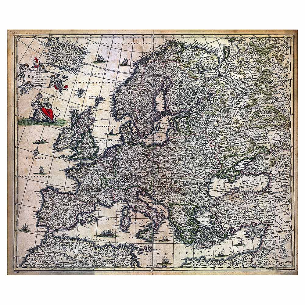 Frederic De Wit Map Of Europe 1700